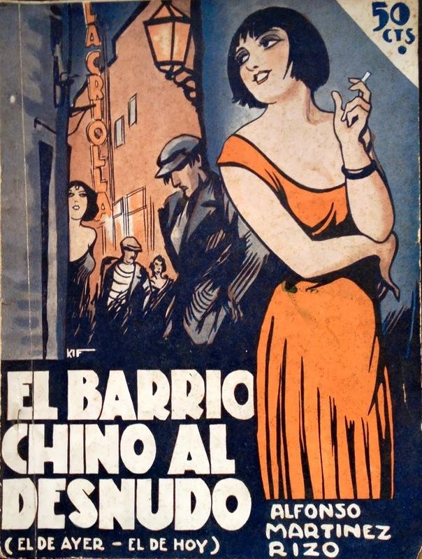 Portada de <em>El Barrio chino al desnudo</em>, de Alfonso Martínez Rizo