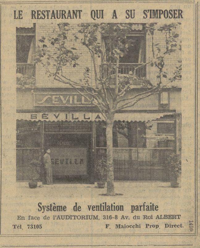 Anuncio del restaurante Sevilla
