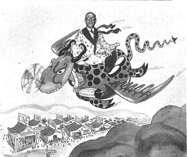 Dibujo de Antonio Ramos como 'emperador del cine'