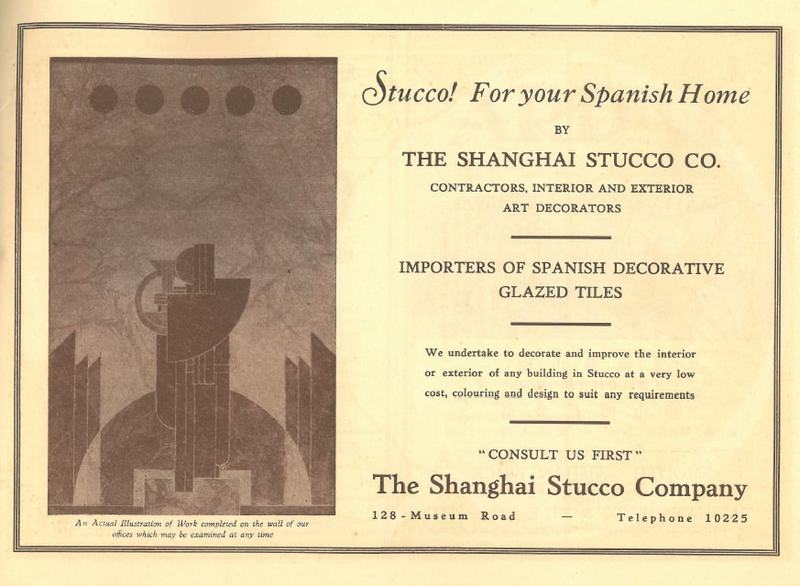 Anuncio de The Shanghai Stucco Co.