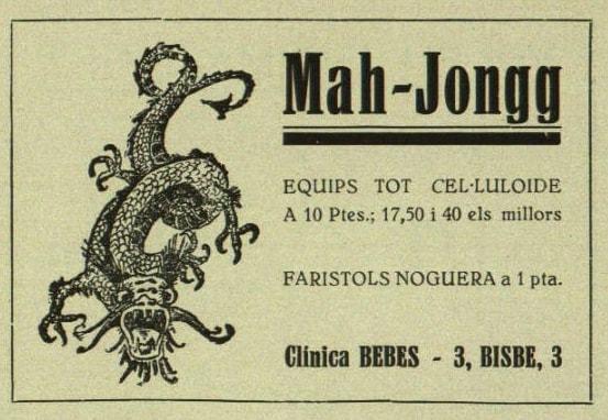 Anuncio de juegos de mah-jongg