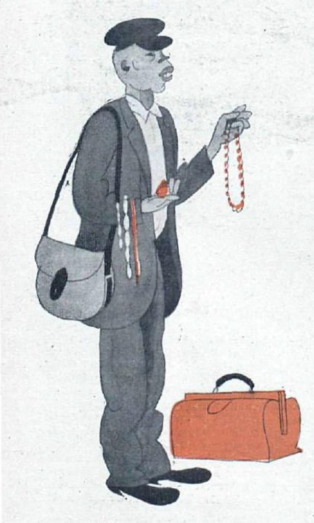 Dibujo De Un Vendedor De Collares Archivo China Espana 1800 1950