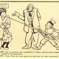 Caricatura sobre la invasión japonesa de Manchuria