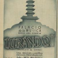 Cartel de la película <em>Turandot</em>