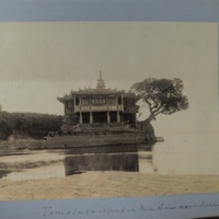 Temple on island in Min River near Foochow