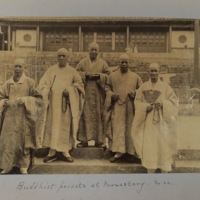 Buddhist priests at monastery. No. 22