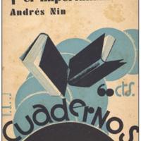 Portada de <em>Manchuria y el imperialismo</em>, de Andreu Nin